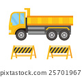 自动倾卸卡车 矢量 建筑工地 25701967