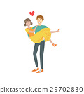 Couple In Love, Man Holding Woman In Arms 25702830
