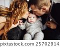 Christmas tree and happy family around 25702914