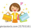 购物 女生 女孩 25703161