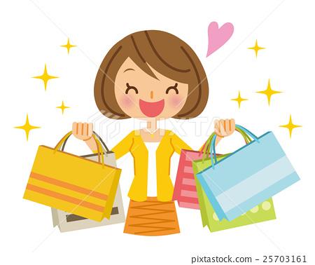 購物女性 25703161
