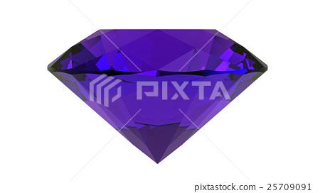 Amethyst, gemstone, 3D rendering 25709091