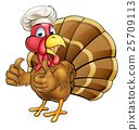Cartoon Turkey Bird Chef Giving Thumbs Up 25709113