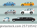 Collection of Passenger Cars Flat Style Vectors 25710542