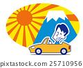 從高高的山頂上看日出 富士山 駕車 25710956