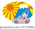 矢量 从高高的山顶上看日出 富士山 25710981