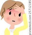 여성 감기 걸리기 시작 열띤 25712185