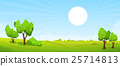 landscape, summer, vector 25714813