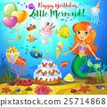 Cute birthday design elements 25714868