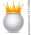 Golf Ball in Crown 25714986