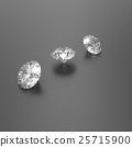Diamonds on a black background. 3D illustration 25715900