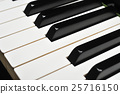 Close-up of the piano keys 25716150