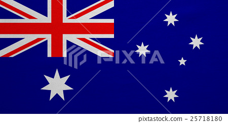 Flag of Australia real detailed fabric texture 25718180