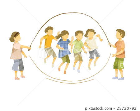 줄넘기를하는 아이들 (일본인) 25720792