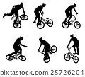 stunt bicyclist silhouettes 25726204