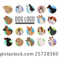 Set of Dog Vector Logos in Flat Style Design   25728360