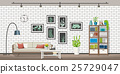 Illustration of interior of a modern living room 25729047