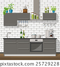 Illustration of interior of a modern kitchen 25729228