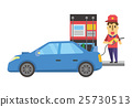 矢量 加油站 男人 25730513