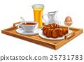 beverage breakfast croissant 25731783
