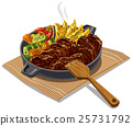 roasted meat and vegetables 25731792