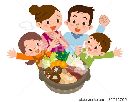鍋裡煮好的食物 用鍋烹飪 家庭 25733766