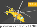 helicopter isometric vector illustration 25733780