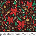 Christmas pattern with fir tree 25735257