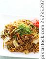 日式炒麵 和食 帶醬汁的日本炒麵 25735297