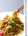 日式炒麵 和食 帶醬汁的日本炒麵 25735299
