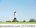 여성, 여자, 달리기 25735801