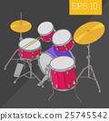 drum kit isometric vector illustration 25745542