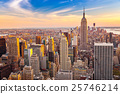 Aerial view of Manhattan at sunset 25746214