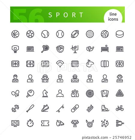 Sport Line Icons Set 25746952