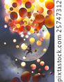 a man climbing fantasy balloons 25747312