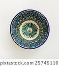 traditional central asian bowl on plastering plate 25749110