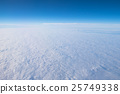 Blue sky and white clouds airplane window 25749338