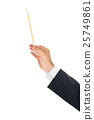 Music conductor hand 25749861