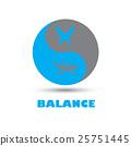 Balance icon logo yinyang 25751445