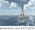 Lighthouse in the stormy ocean 25751635
