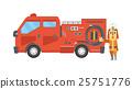 矢量 消防員 男人 25751776