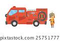 矢量 消防員 男人 25751777