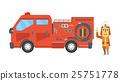 矢量 消防員 男人 25751778