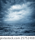 Stormy Sea and Sky. Dark Dramatic Background. 25752468