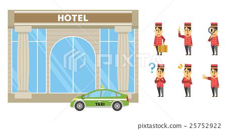 호텔 세트 【플랫 인간 시리즈] 25752922