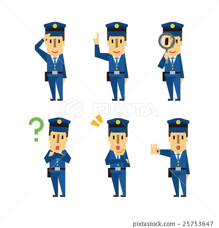 vector, vectors, police officer 25753647