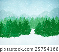 Winter landscape with falling snow 25754168