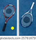 Racket Tennis Ball Sport Equipment Concept 25761679