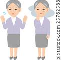 老年女性的面部表情 25762588