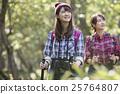 女人徒步旅行 25764807